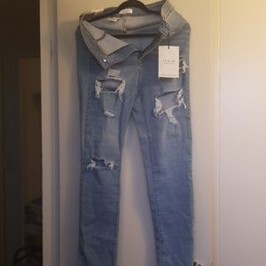 AP blue by aphrodite high rise distressed jeans